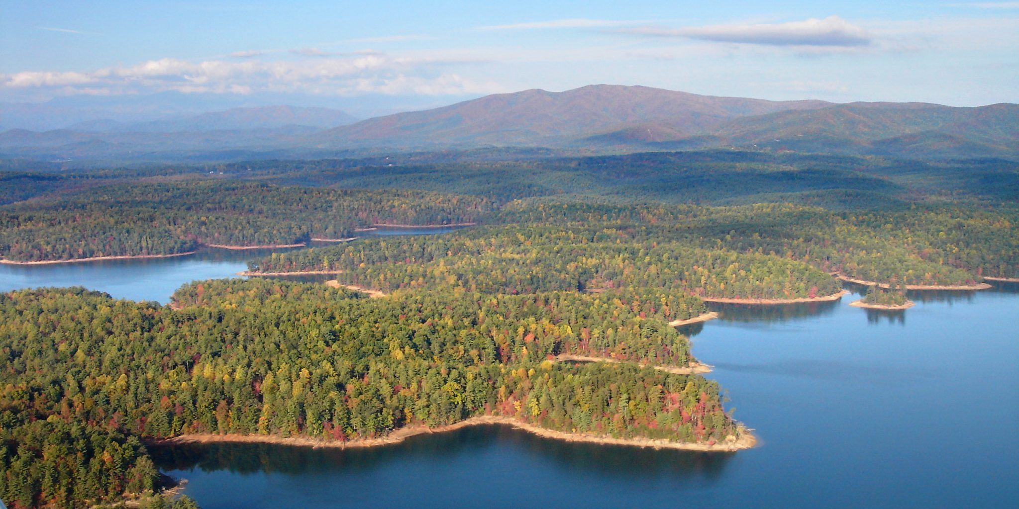 Aerial View of Lake James